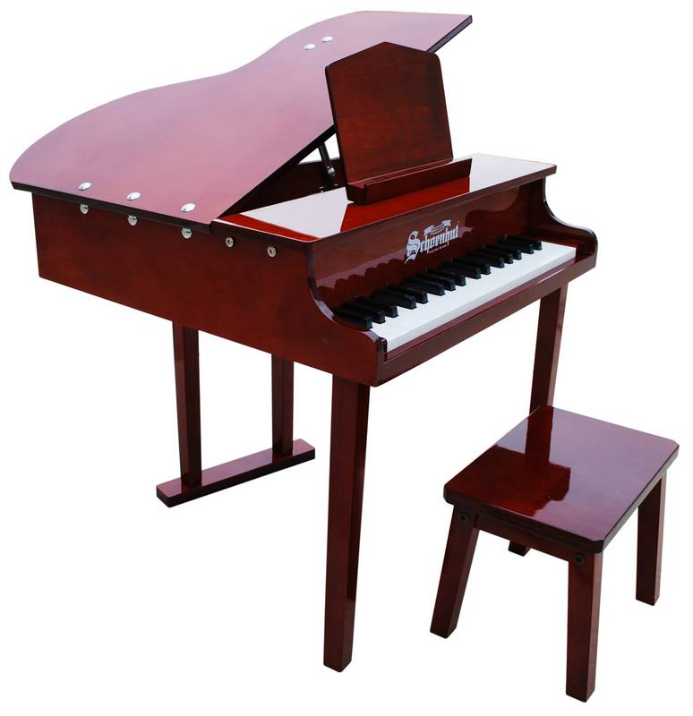 Schoenhut Toy Piano 379M 37 key Mahogany Concert Grand with Bench