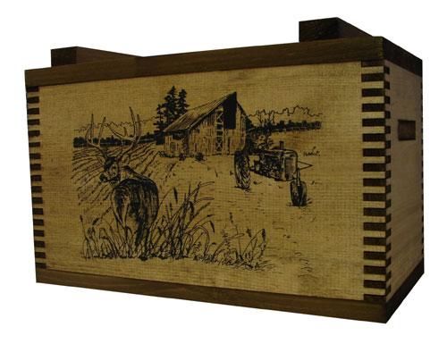 Evans Sports TC1-17 Standard Ammo/Accessory Case - Barnyard Buck Imprint
