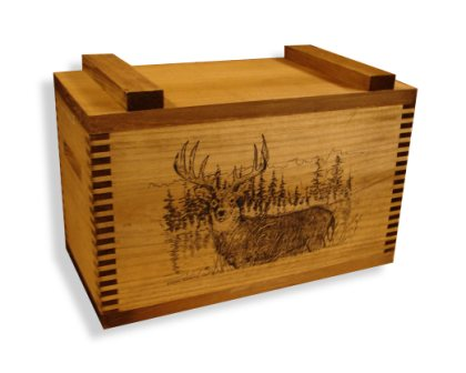 Evans Sports TC1-42 Standard Ammo/Accessory Case - Deer In Pines Imprint