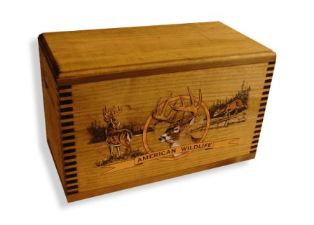 Evans Sports TC19-82 Ammo/Accessory Case with Shaped Top - Color Wildlife Deer