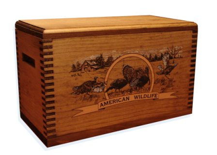 Evans Sports TC19-83 Ammo/Accessory Case with Shaped Top - Color Wildlife Turkey