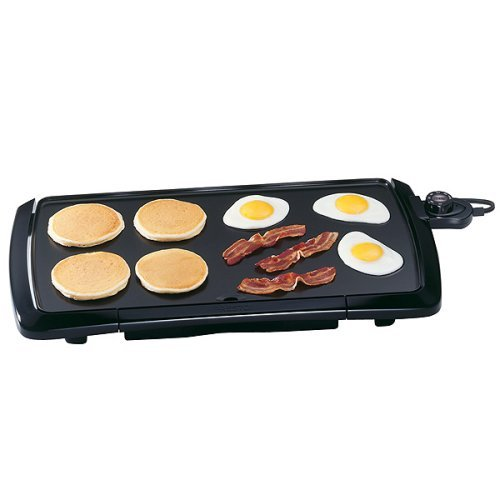 "PRESTO 07030 20"" Electric Cool Touch Griddle - Black"