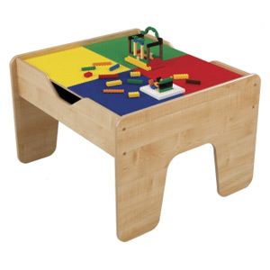 Kid Kraft 17576 2 in 1 Activity Table Lego compatible