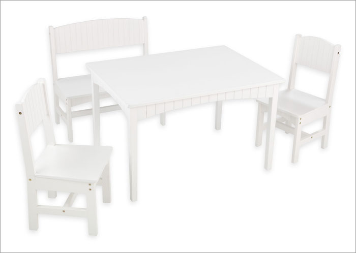 Kid Kraft 26110 Nantucket Table with Bench and 2 Chairs