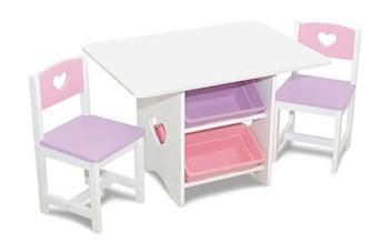 Kid Kraft 26913 Heart Table and Chair Set
