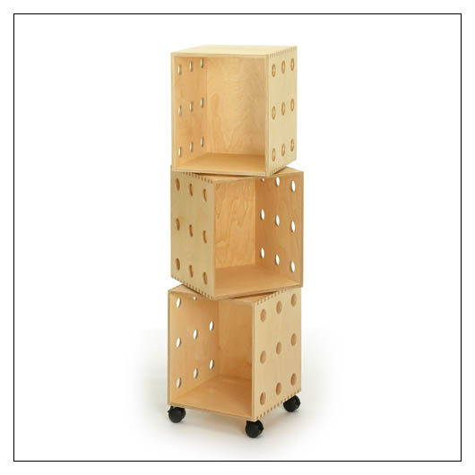 Offi VSP4813 Perf Boxes - 3 stack with casters
