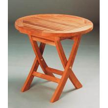 Anderson Teak TBF-020R 20 Inch Mini Side Round Folding Table