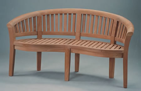 Anderson Teak BH-005CT 5-Foot Curve Bench Extra Thick Wood