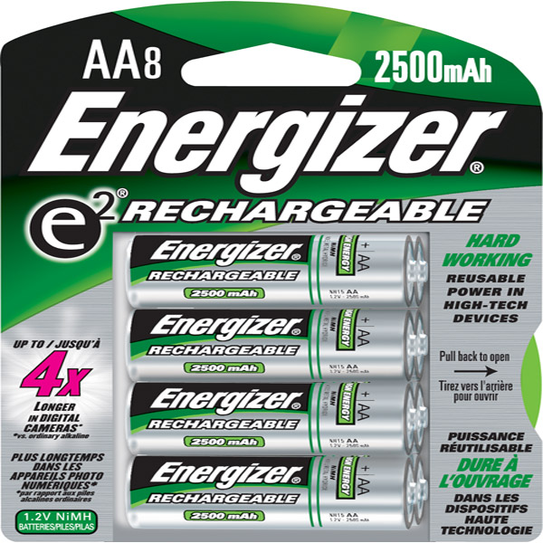 Energizer NH15BP-8 Rechargeable AA NiMH Batteries