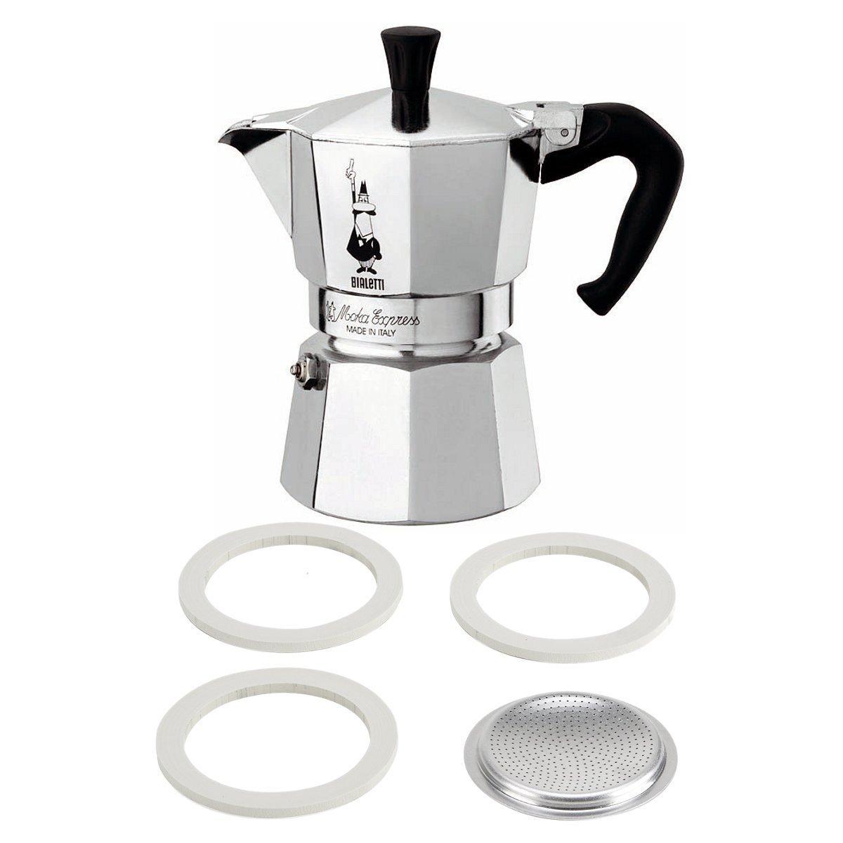 ALUMINUM STOVE TOP 6-CUP 10-6 Espresso Maker