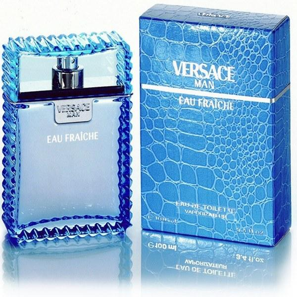 Versace Man by Versace Eau Fraiche Eau De Toilette Spray (Blue) 3.4 oz