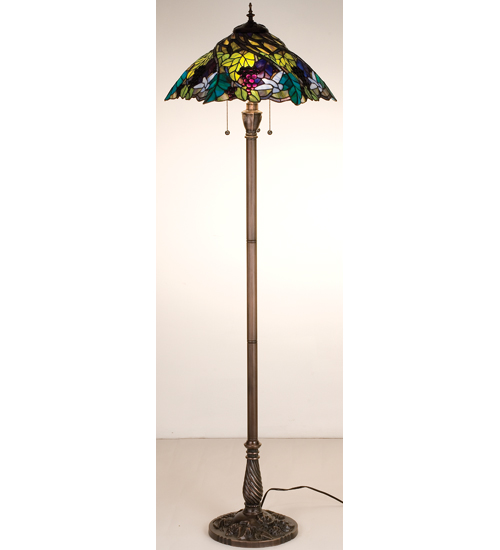 Meyda Tiffany 99339 64.5 Inch H Spiral Grape Floor Lamp