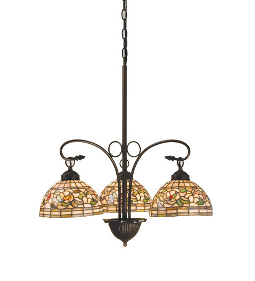 Meyda Tiffany 16107 24 Inch W Turning Leaf 3 Lt Chandelier