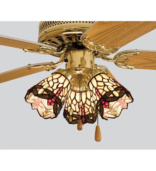 Meyda Tiffany 99245 4 Inch W Tiffany Scarlet Dragonfly Fan Light Shade