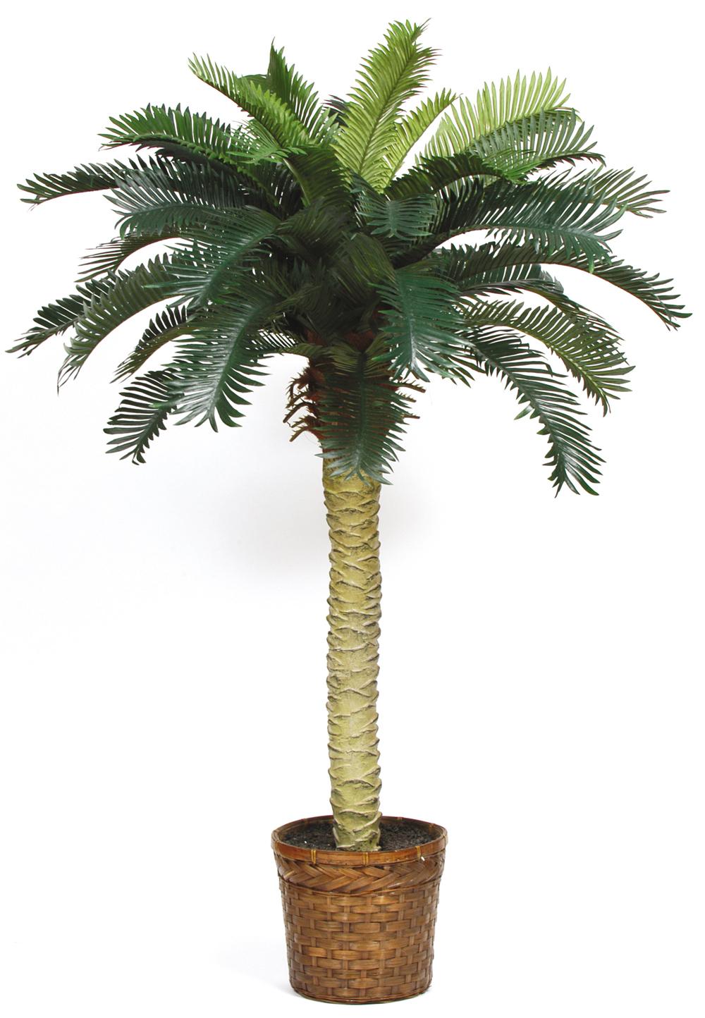 Nearly Natural 5043 Sago Silk Palm Tree 4 Feet