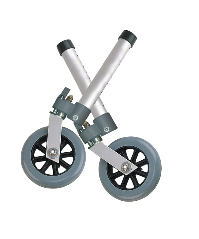 Drive Medical 10115 5 Inch Swivel Wheels with Lock Rear Glides