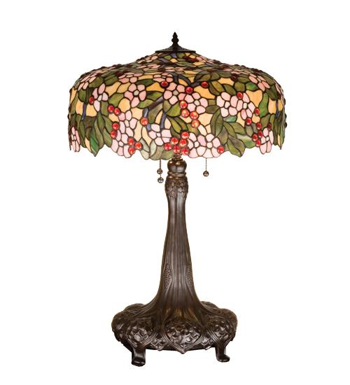 Meyda Tiffany 15404 31 Inch H Tiffany Cherry Blossom Table Lamp
