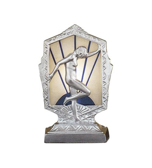 Meyda Tiffany 27146 6 Inch X 4.5 Inch Flash Glass For Gq-9 Inch Steel Posing Deco Lady MYTF2425