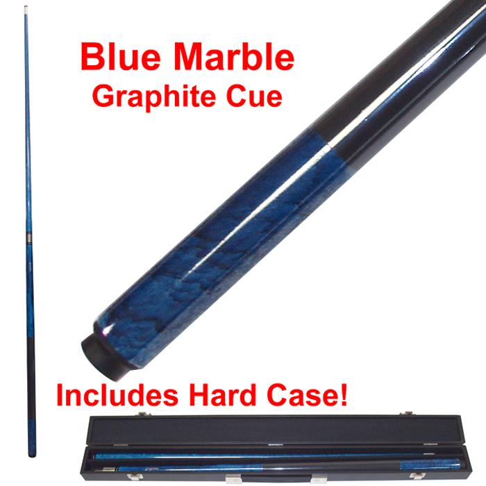 Blue Marble Graphite Cue Billiard Stick