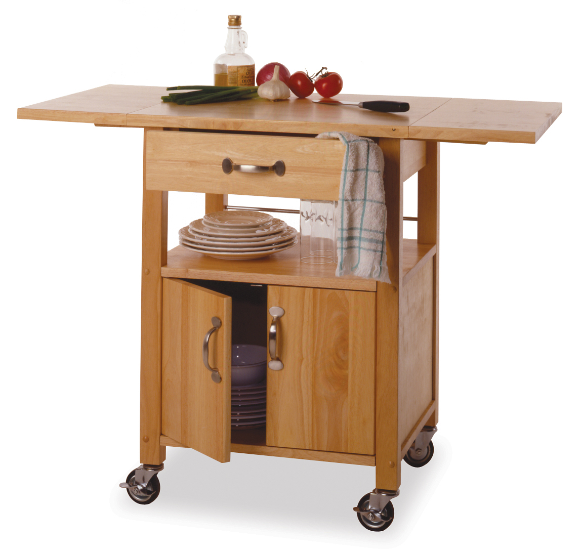 Winsome 84920 Beech Beechwood KITCHEN CART DROP LEAF