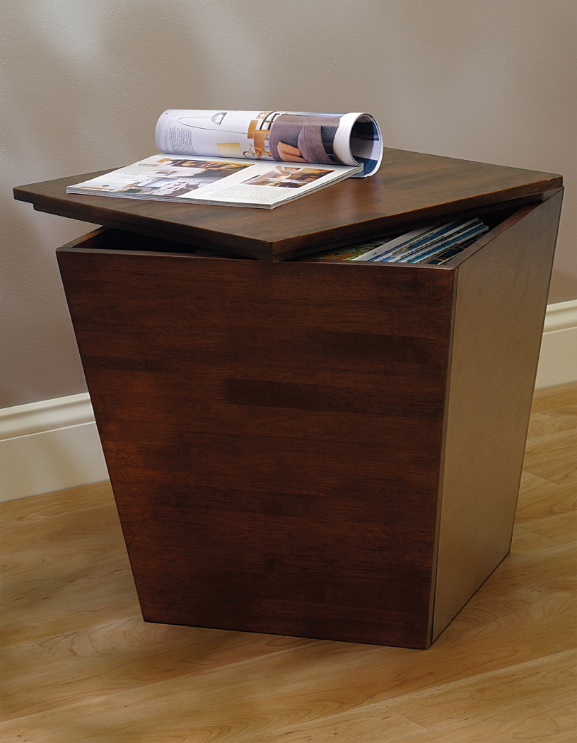 Winsome 94418 Antique Walnut Beechwood CUBE TAPERED