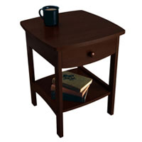 Winsome 94918 Antique Walnut Beechwood NIGHT STAND WITH DRAWER