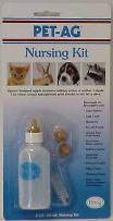 Pet Ag Nursing Kit 2 Oz W Brush Nipples Carded