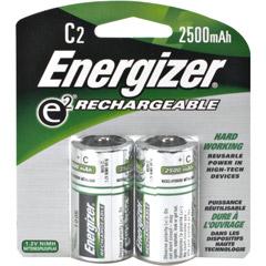 ENERGIZER NH35BP-2 Rechargeable NiMH Batteries C 2-pk