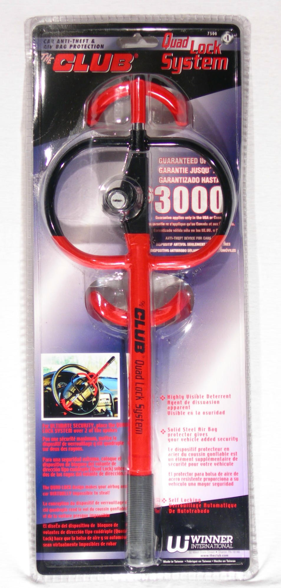 Winner International 7500 Club Quad System Lock