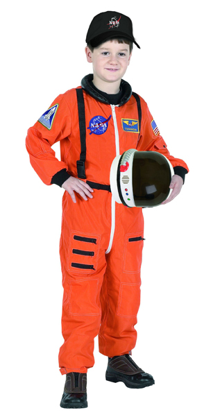Aeromax ASO-810 Junior Astronaut Suit with Embroidered Cap size 8/10 orange