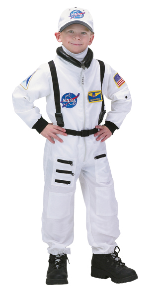 Aeromax ASW-1214 Junior Astronaut Suit with Embroidered Cap size 12/14 white