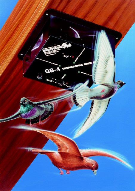 Bird-X QB4 Quadblaster QB-4 Ultrasonic Bird Repeller