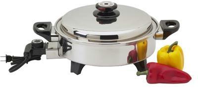 Precise Heat KTOILCORE Precise Heat 3-1/2qt Surgical Stainless Steel Oil Core Skillet