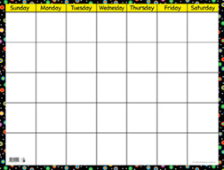 Creative Teaching Press Ctp1514 Poppin Patterns Small Calendar Cha Rt