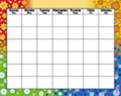 Trend Enterprises Inc. T-1170 Wipe-Off Chart Calendar 22 X 28