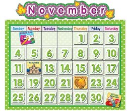 Teacher Created Resources Tcr4188 Polka Dot School Calendar Bulletin Board