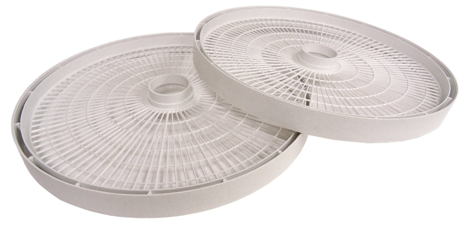 NESCO LT2SG TRAY FITS DEHYDRATOR FD61WHC AND FD75PR Speckled Gray- Set of 2