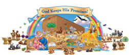 "CARSON DELLOSA CD-210013 50"" x 24"" Noahs Ark Bulletin Board Set"