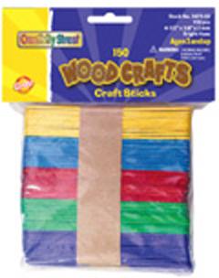 Chenille Kraft Company Ck-367502 Craft Sticks Assorted Colors
