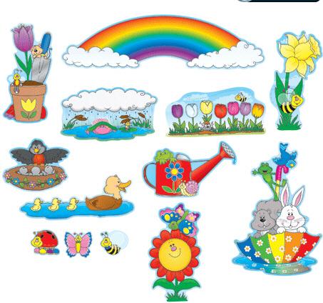 CARSON DELLOSA CD-110048 Spring Mini Bulletin Board Set