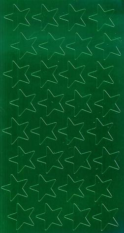Eureka Eu-82442 Stickers Foil Stars.5 Inch Green 250 Pack