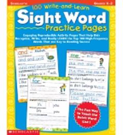 Scholastic Teaching Resources Sc-0439365627 100 Writeandlearn Sight Word Practi