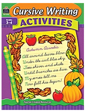 Teacher Created Resources Tcr3592 Cursive Writing Activities