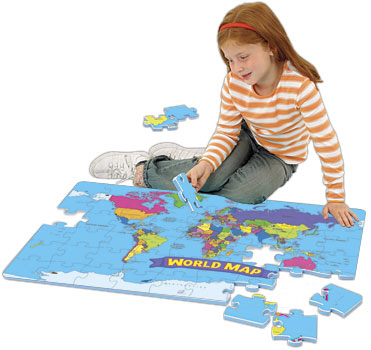 Educational Insights Ei-4810 World Foam Map Puzzle