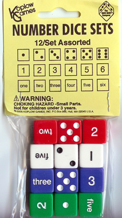 Koplow Games Inc. Kop12950 Number Dice Set
