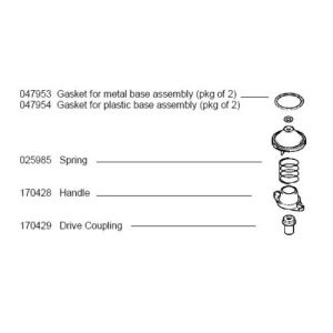 Bosch 047954 Gasket for Plastic Base Assembly MUZ6MX2 2/Pkg