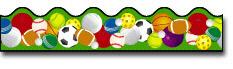Carson Dellosa Cd-1233 Border Sports Balls-Scalloped