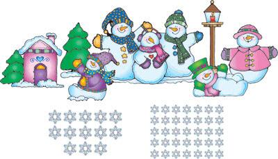 """CARSON DELLOSA DJ-610018 32"""" x 22"""" Snow Pals Bulletin Board Set"""