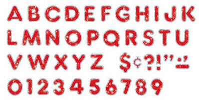 Trend Enterprises T-79642 Red Sparkle Plus 4 Ready Letters