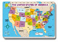 Carson Dellosa Cd-3090 Jumbo Map Pad U.S. Labeled-30/Pk 16 X 10-3/4